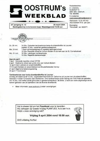 Oostrum's Weekblad 2004-03-25
