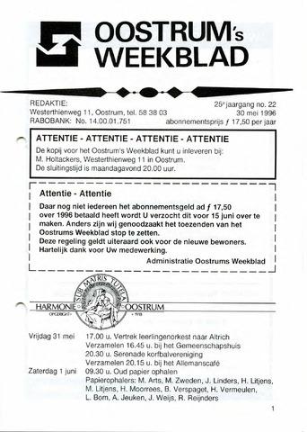 Oostrum's Weekblad 1996-05-30