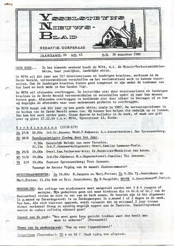 Ysselsteyns Nieuwsblad 1988-08-26