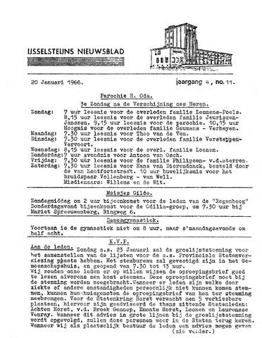 Ysselsteyns Nieuwsblad 1966-01-20