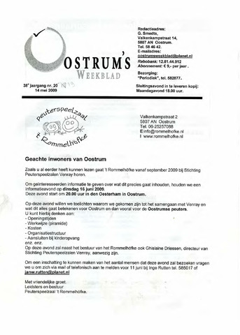 Oostrum's Weekblad 2009-05-14