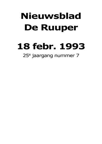 Dorpsblad Leunen-Veulen-Heide 1993-02-18