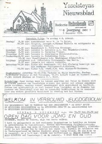 Ysselsteyns Nieuwsblad 1978-12-01