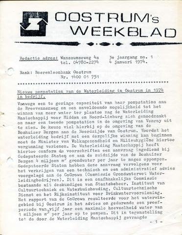 Oostrum's Weekblad 1974-01-04