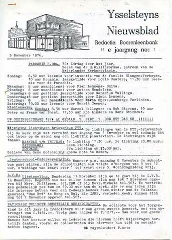 Ysselsteyns Nieuwsblad 1976-11-05