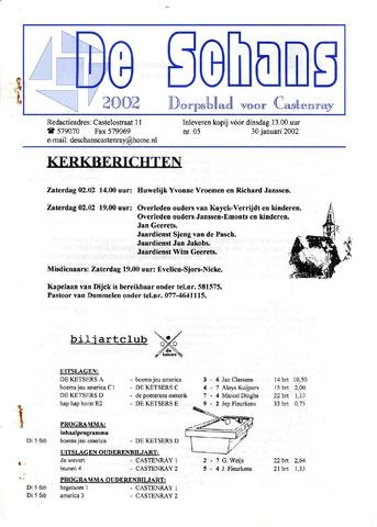 Castenrays dorpsblad De Schans 2002-01-30