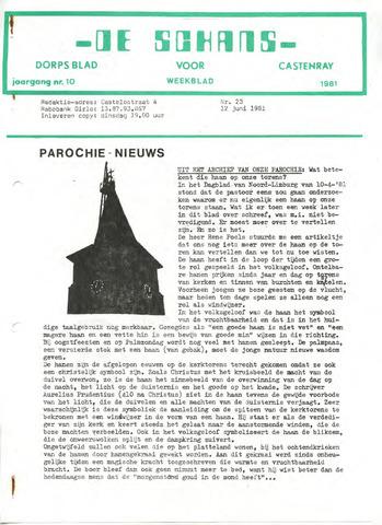 Castenrays dorpsblad De Schans 1981-06-12