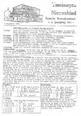 Ysselsteyns Nieuwsblad 1974-12-05