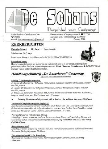 Castenrays dorpsblad De Schans 2010-03-17