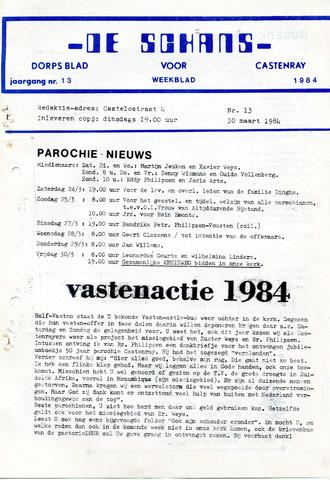 Castenrays dorpsblad De Schans 1984-03-30