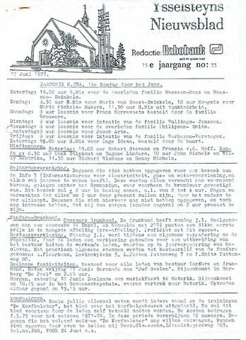 Ysselsteyns Nieuwsblad 1977-06-17