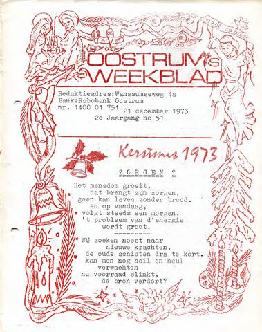 Oostrum's Weekblad 1973-12-21