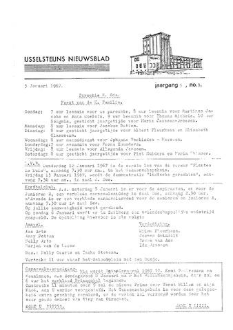 Ysselsteyns Nieuwsblad 1967-01-05