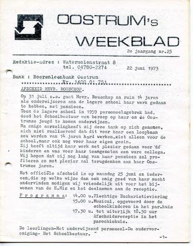 Oostrum's Weekblad 1973-06-22
