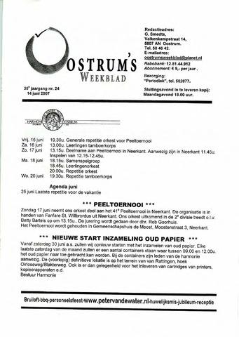 Oostrum's Weekblad 2007-06-14