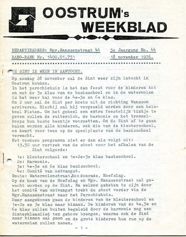 Oostrum's Weekblad 1976-11-18