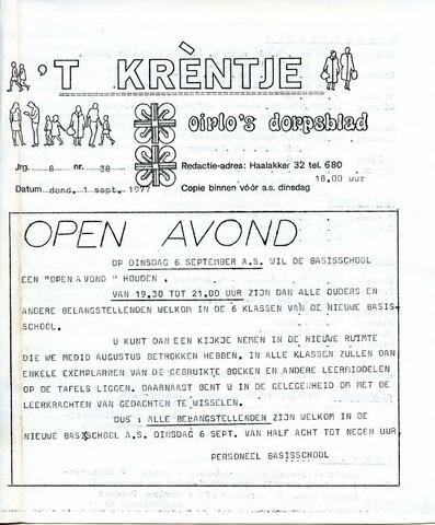 Oirlo's dorpsblad 't Krèntje 1977-09-01