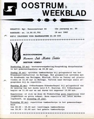 Oostrum's Weekblad 1983-05-19