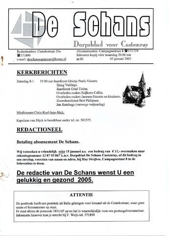 Castenrays dorpsblad De Schans 2005-01-05