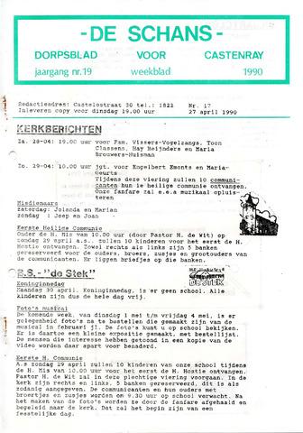 Castenrays dorpsblad De Schans 1990-04-27