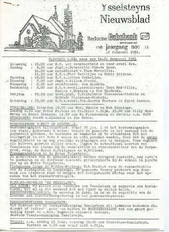 Ysselsteyns Nieuwsblad 1981-02-13