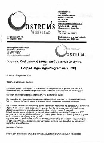 Oostrum's Weekblad 2005-08-18