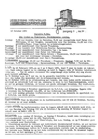Ysselsteyns Nieuwsblad 1970-10-16