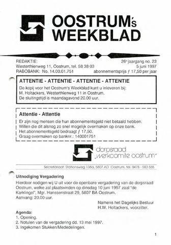 Oostrum's Weekblad 1997-06-05