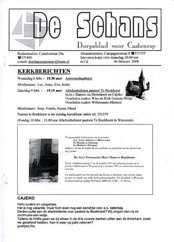 Castenrays dorpsblad De Schans 2008-02-06