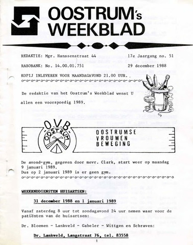 Oostrum's Weekblad 1988-12-29