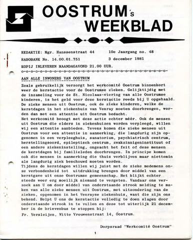 Oostrum's Weekblad 1981-12-03