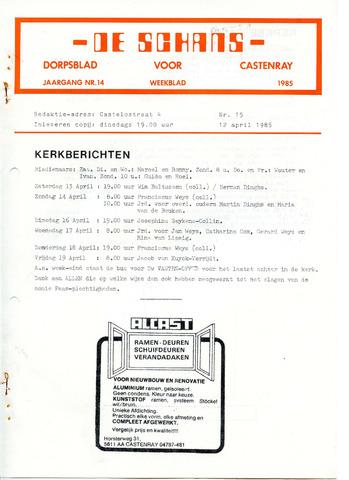 Castenrays dorpsblad De Schans 1985-04-12