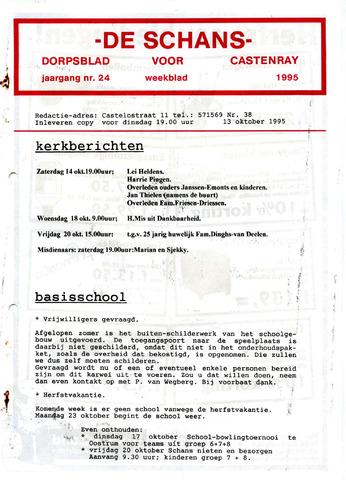 Castenrays dorpsblad De Schans 1995-10-13