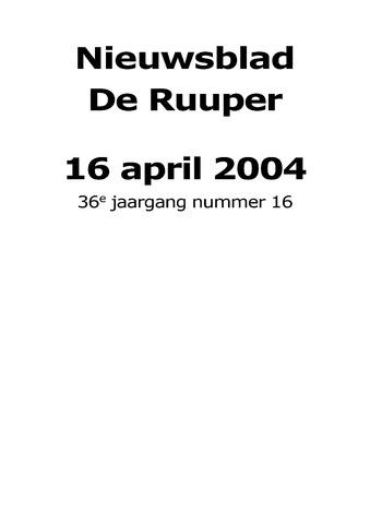 Dorpsblad Leunen-Veulen-Heide 2004-04-16