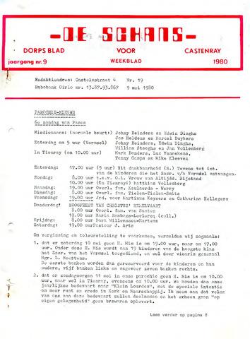 Castenrays dorpsblad De Schans 1980-05-09