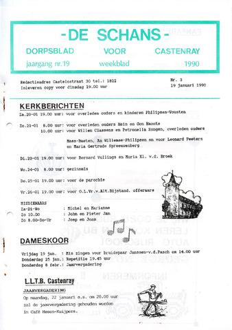 Castenrays dorpsblad De Schans 1990-01-19
