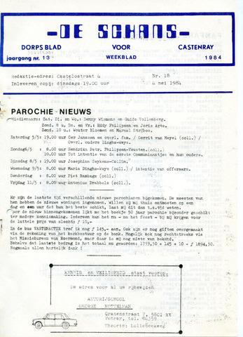 Castenrays dorpsblad De Schans 1984-05-04
