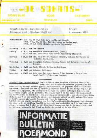 Castenrays dorpsblad De Schans 1983-11-04