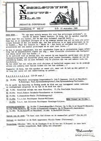 Ysselsteyns Nieuwsblad 1989-09-22