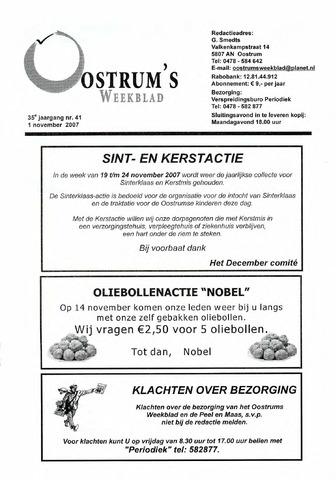 Oostrum's Weekblad 2007-11-01