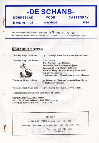Castenrays dorpsblad De Schans 1996-09-05