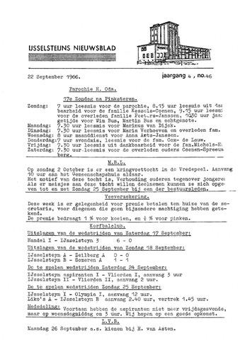 Ysselsteyns Nieuwsblad 1966-09-22