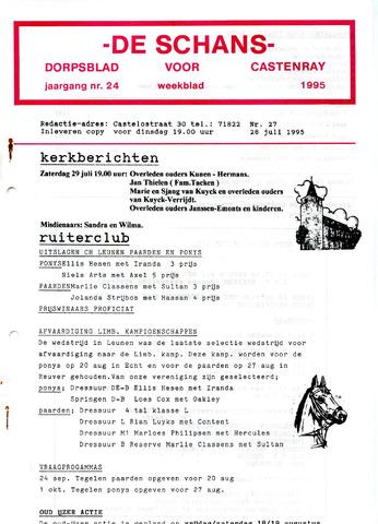 Castenrays dorpsblad De Schans 1995-07-28