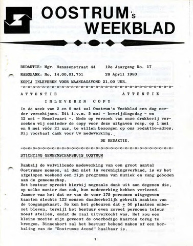 Oostrum's Weekblad 1983-04-28