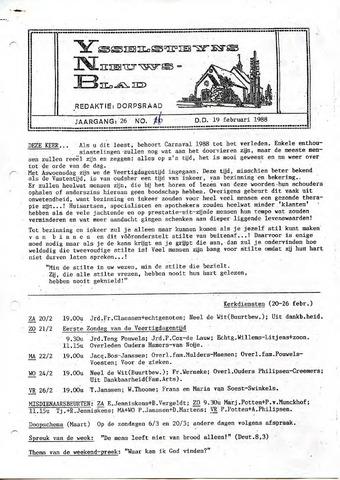 Ysselsteyns Nieuwsblad 1988-02-19