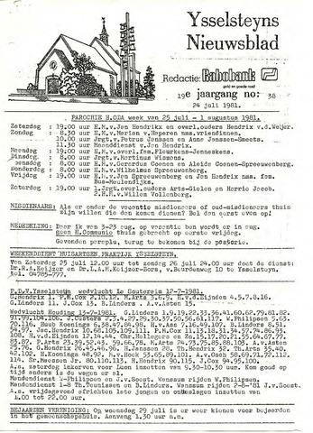 Ysselsteyns Nieuwsblad 1981-07-24