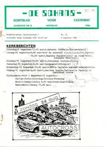 Castenrays dorpsblad De Schans 1986-08-08