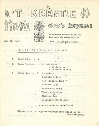 Oirlo's dorpsblad 't Krèntje 1979-01-11