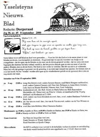 Ysselsteyns Nieuwsblad 2000-09-08