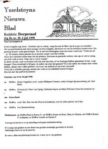 Ysselsteyns Nieuwsblad 1998-07-03